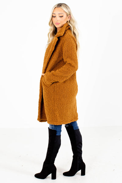 Women's Camel Brown Fall and Winter Boutique Clothing