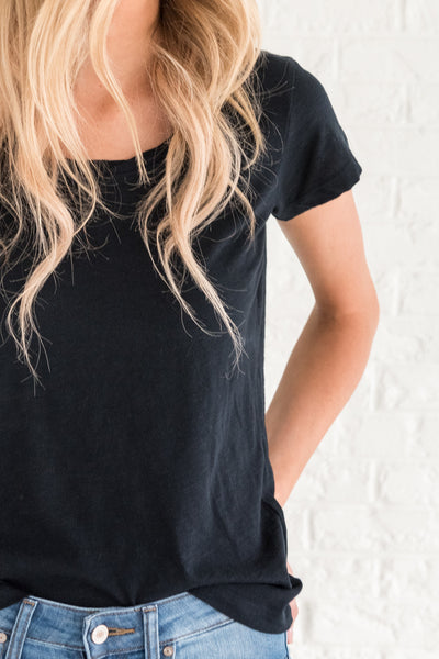 Navy Cute Tees for Women