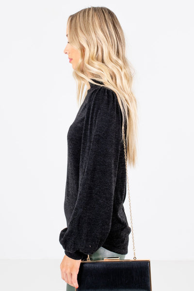 Women's Black Cozy and Warm Boutique Clothing