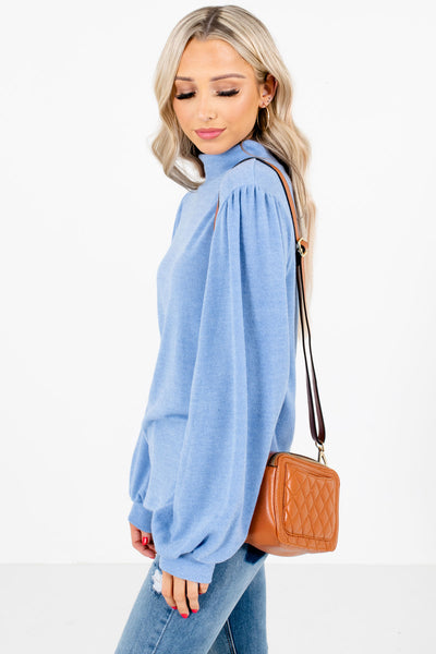 Blue High-Quality Lightweight Material Boutique Tops for Women