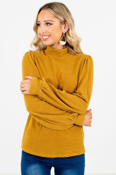 Women's Mustard Yellow Casual Everyday Boutique Clothing