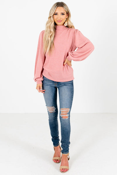 Pink Bishop Sleeve Boutique Tops for Women