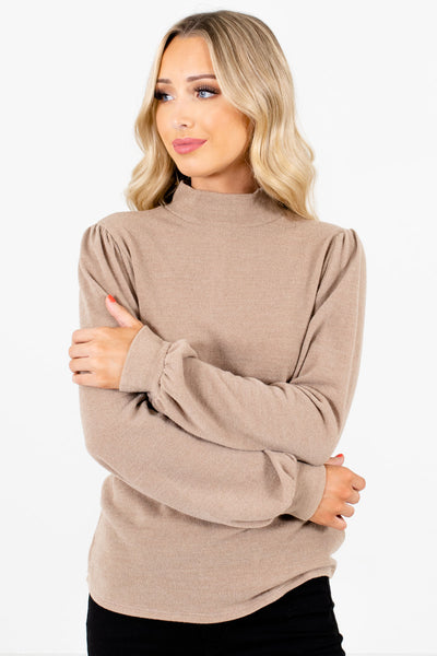 Women's Taupe Brown Casual Everyday Boutique Clothing