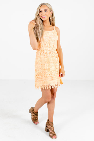 Orange Cute and Comfortable Boutique Mini Dresses for Women