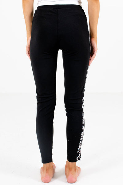 Women's Black Elastic Waistband Boutique Leggings