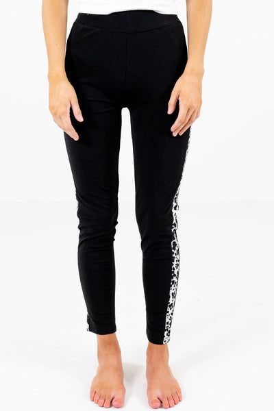 Women's Black Fitted Boutique Leggings