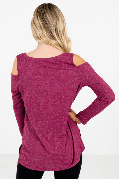 Women's Purple Lightweight Knit Material Boutique Tops
