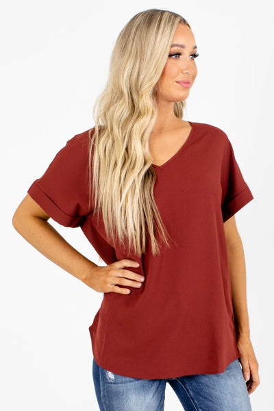 First Kiss V-Neck Blouse