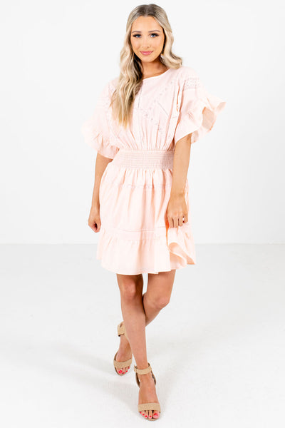 Light Pink Cute and Comfortable Boutique Mini Dresses for Women