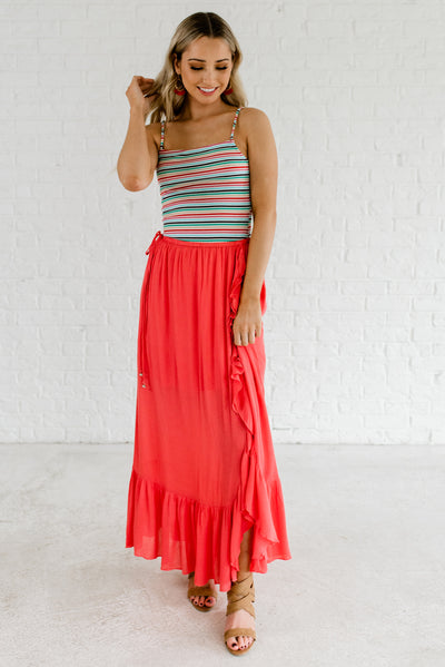 Coral Pink Spring and Summertime Boutique Clothing for Women