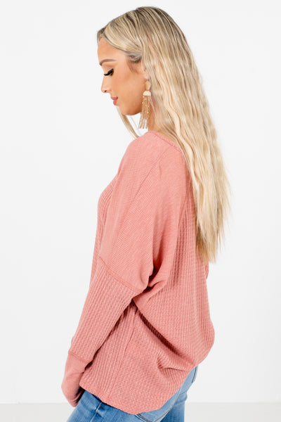 Pink Relaxed Fit Boutique Tops for Women