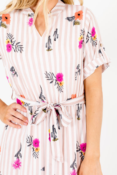 Pink and White Affordable Online Boutique Clothing for Women