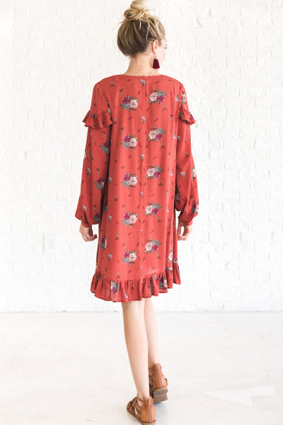Rust Red Dressy Women's Fall Clothing