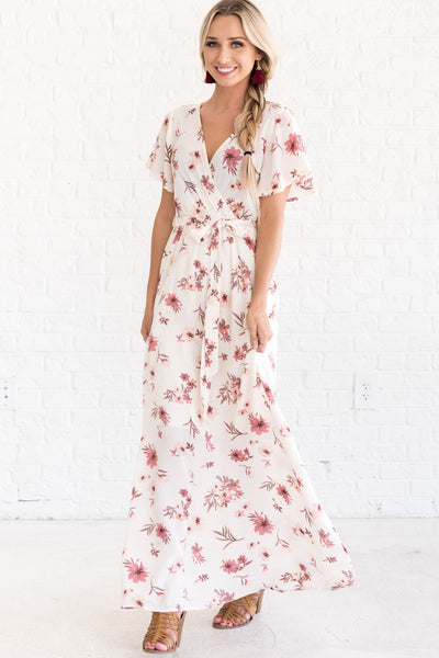 Florence Floral Cream Maxi Dress