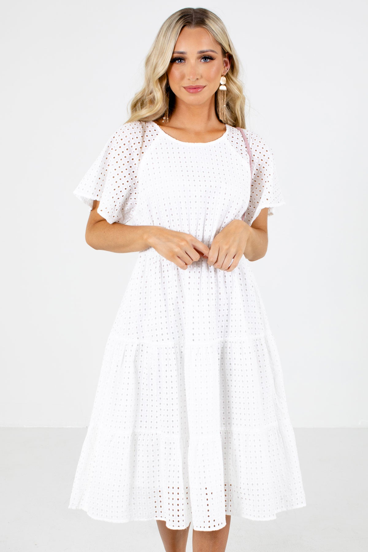 Women's White Spring and Summertime Boutique Clothing