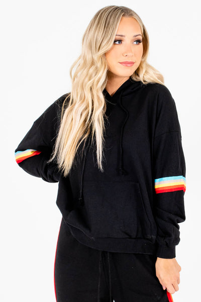 Women's Black Cozy and Warm Boutique Hoodie