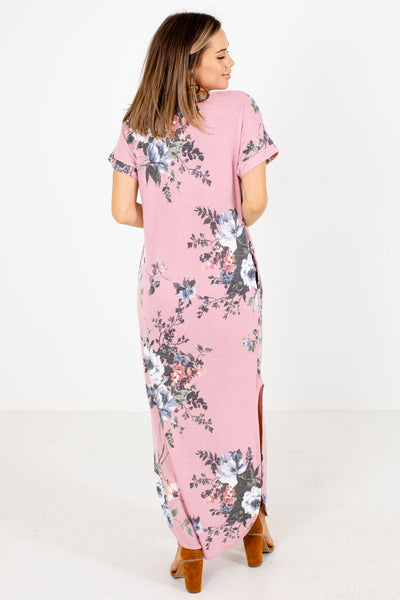 Women's Pink Casual Everyday Boutique Maxi Dress