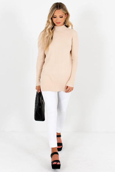 Women's Beige Fall and Winter Boutique Clothing