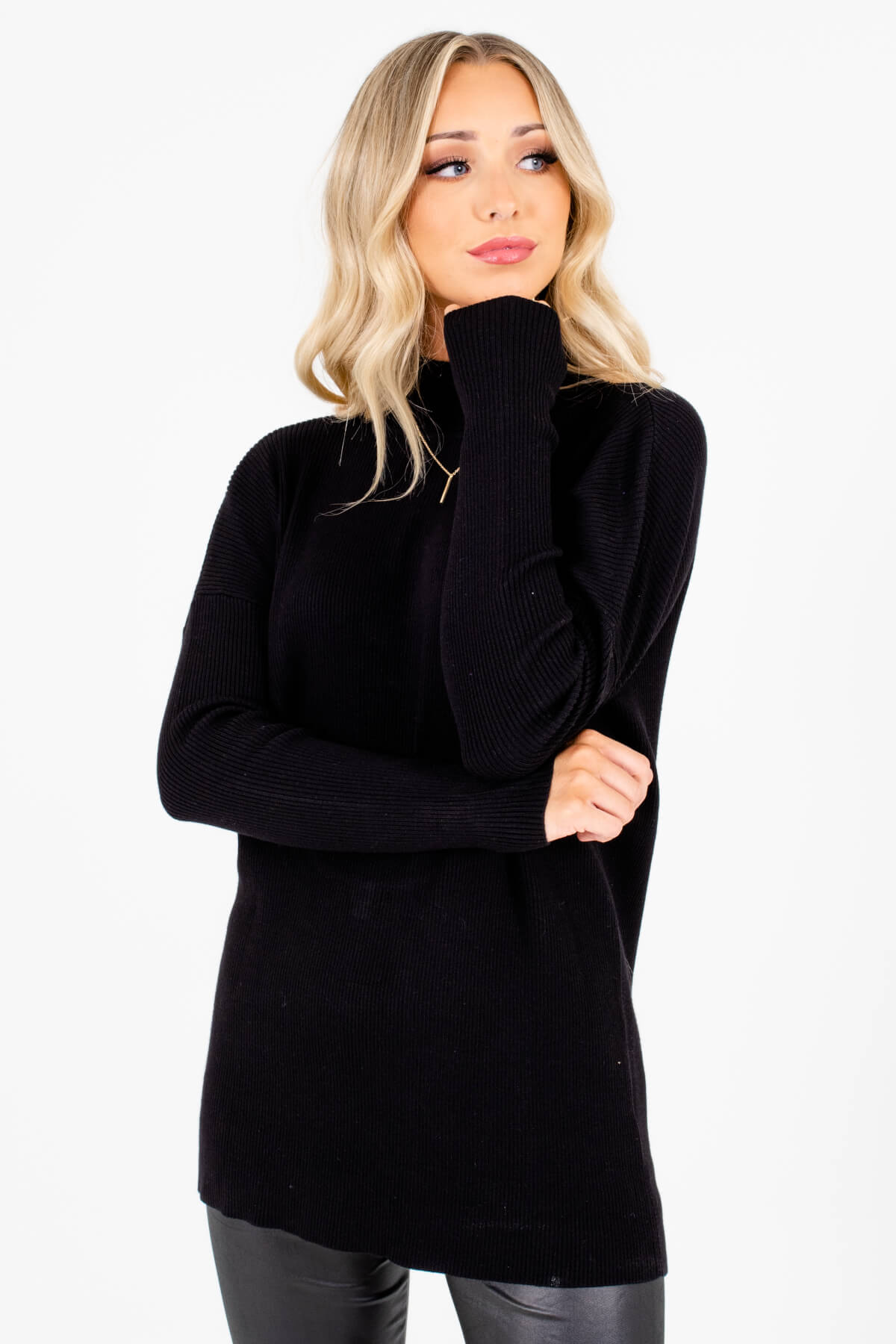 Women's Black Warm and Cozy Boutique Clothing