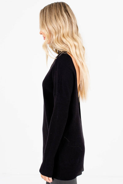 Black Turtleneck Style Boutique Sweaters for Women