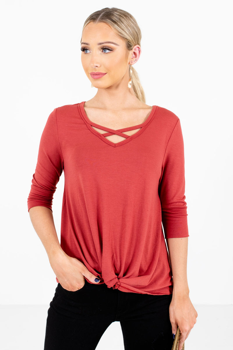 Free to Fly Dark Coral Top