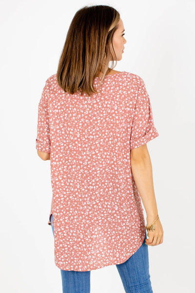 Women's Pink High-Low Hem Boutique Blouse