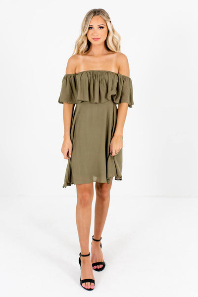 Olive Green Date Night Boutique Outfits for Women