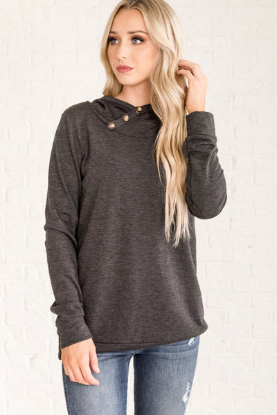 Charcoal Gray Casual Cozy Warm Fall Clothing for Women