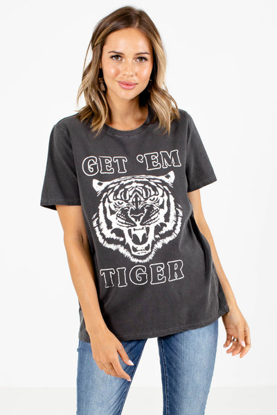 Charcoal Gray Boutique Graphic Tees for Women