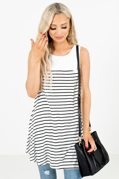 White Cute and Comfortable Boutique Tunics for Women