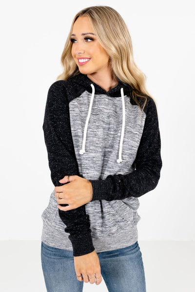 Women's Black Warm and Cozy Boutique Hoodies