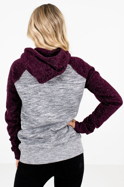 Women's Purple Front Pocket Boutique Hoodie