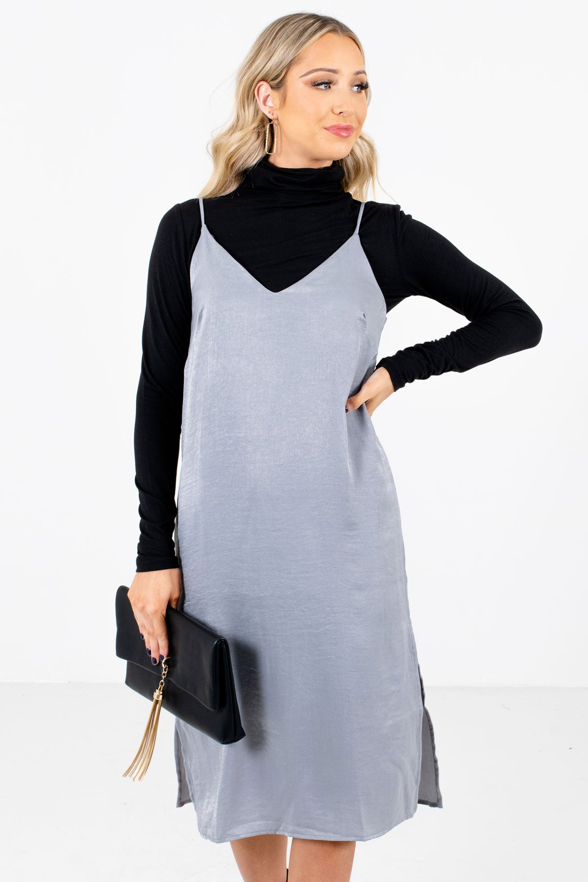 Slate Gray Affordable Online Boutique Clothing for Women