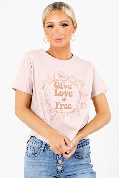 Women's Short Sleeve Pink Graphic Tee