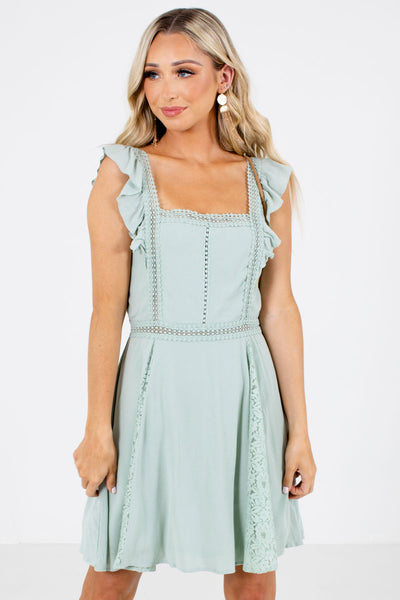 Green Lace Boutique Mini Dresses for Women