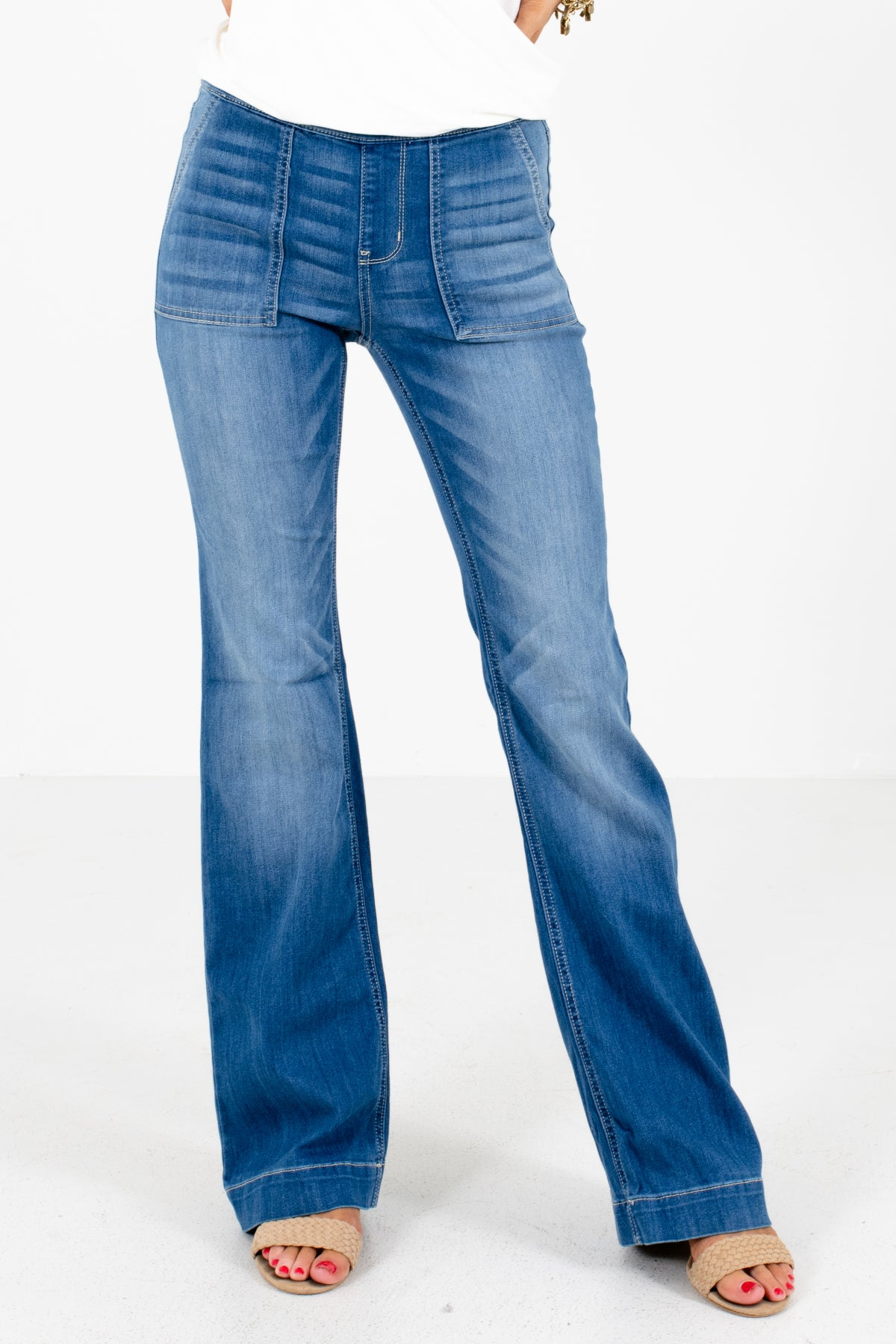 Blue Flare Style Boutique Jeggings for Women