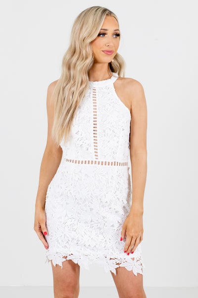 White Cute and Comfortable Boutique Mini Dresses for Women