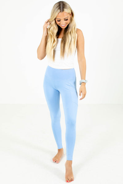 Women's Blue Lounge Wear Boutique Leggings