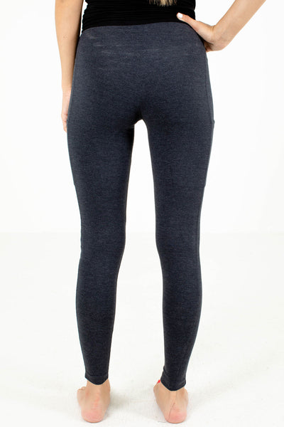 Women's Gray Full Length Boutique Leggings