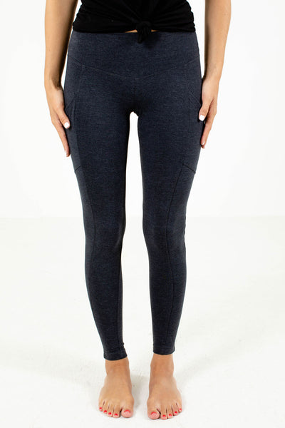 Gray Fitted Silhouette Boutique Leggings for Women