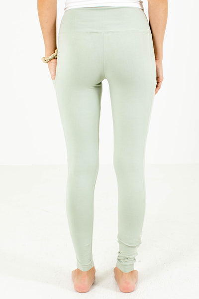 Women's Sage Green Casual Everyday Boutique Leggings