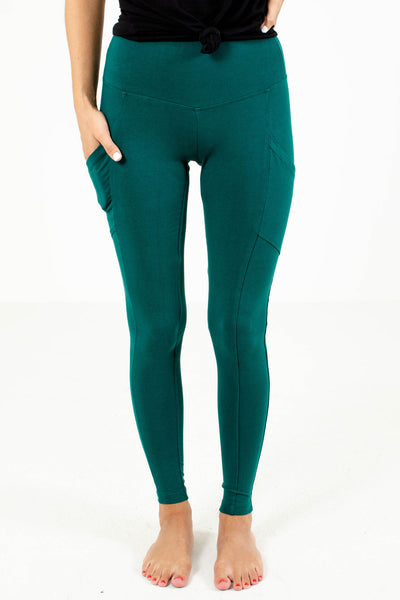 Teal High-Waisted Boutique Leggings for Women