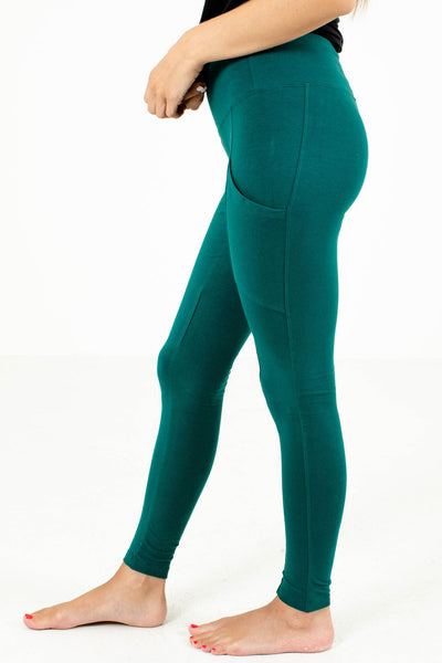 Women's Teal Boutique Leggings with Pockets