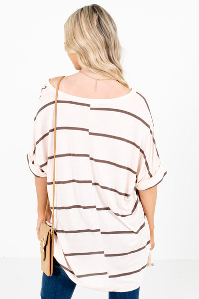 Women's Cream V-Neckline Boutique Tops