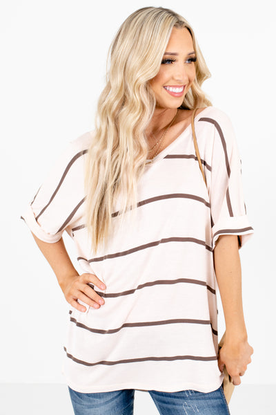 Cream Cute and Comfortable Boutique Tops for Women