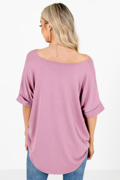 Women's Pink Casual Everyday Boutique Blouse