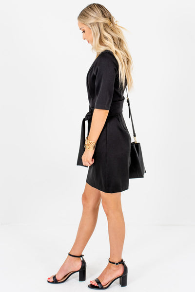 Black Fully Lined Boutique Mini Length Dresses for Women