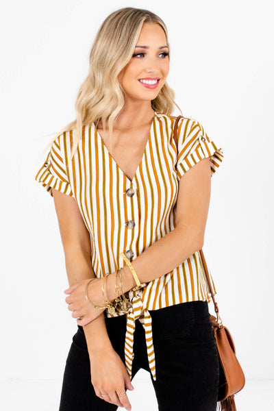White Olive and Rust Lightweight and Flowy Boutique Tops for Women