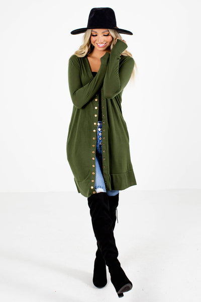 Women's Green Fall and Winter Boutique Clothing