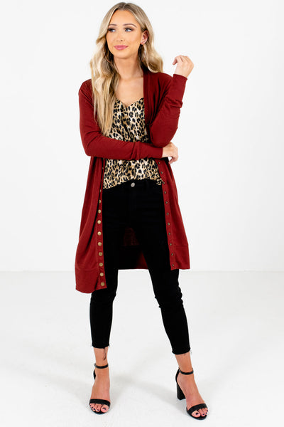 Women's Rust Red Warm and Cozy Boutique Clothing